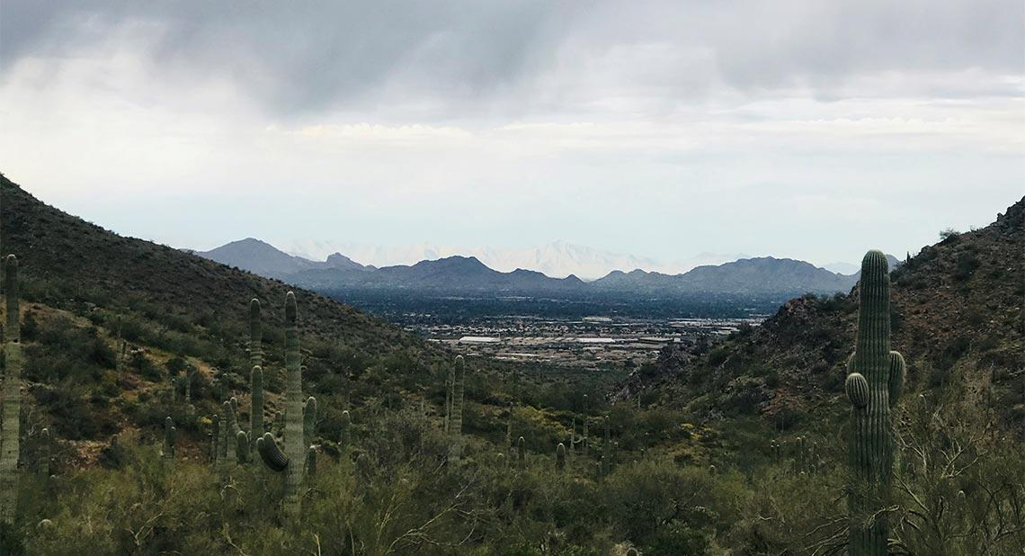 A view of Phoenix from a mountain